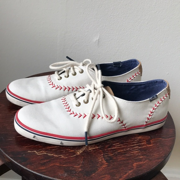00cb6dda8c8 Keds Shoes - KEDS Baseball Stitch Cream Tennis Sneakers